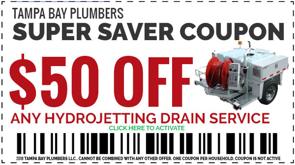 2018 Plumbing Coupons Tampa Bay Plumbers Save $50 OFF Any Hydrojetting Drain Service
