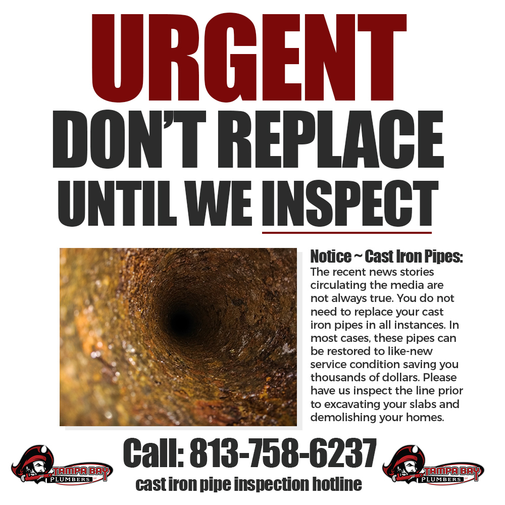 dont-replace cast iron pipes